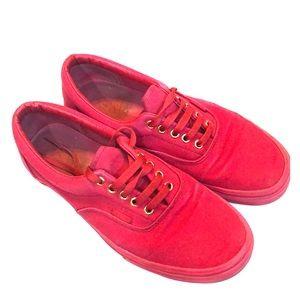 Men's Red Vans Size 9